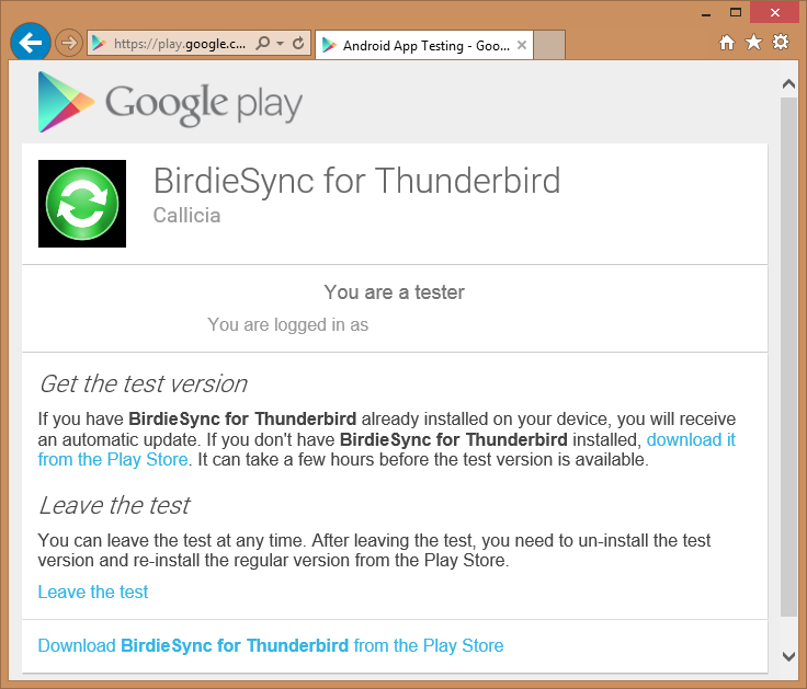thunderbird app for android
